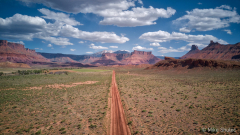 Dirt road in Moab with La  copy