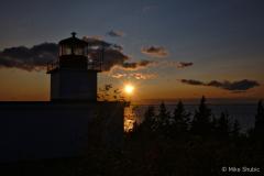 Sunset lighthouse on Grand copy