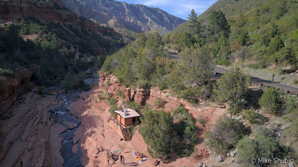 Slide Rock state park aerial photo by MikesRoadTrip.com
