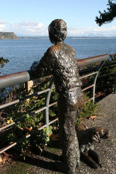Sculpture on Whidbey Island