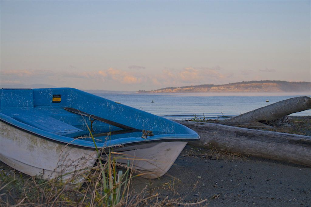 row boat on beach by MikesRoadTrip.com