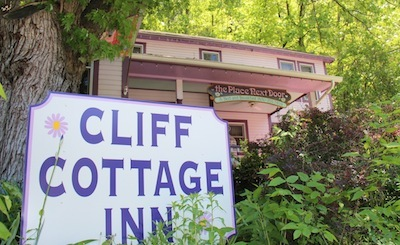 Cliff Cottage Inn sign by MikesRoadTrip.com