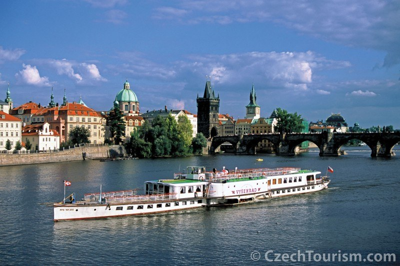 River Cruise ship in Prague, Czech Republic