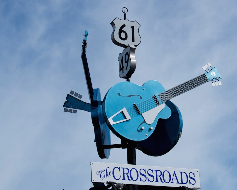 Blues Trail road trip to the The Crossroads in Clarksdale, MS - photo by Mike Shubic of MIkesRoadTrip.com