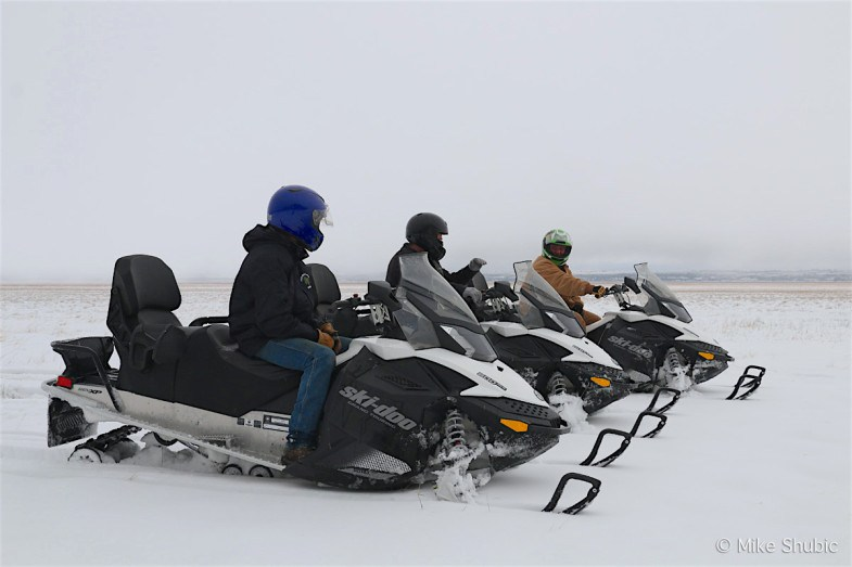 Snowmobiling at Mormon Lake Lodge. Photo by: MikesRoadTrip.com