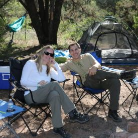 Camping deep in the Superstition Mountains