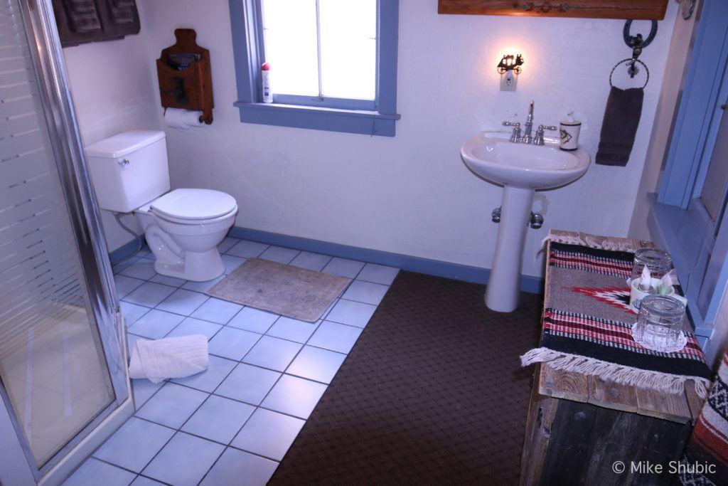 Bathroom in the Western Room at Ghost City Inn