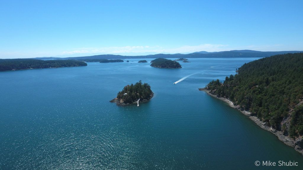 San Juan Islands aerial by MikesRoadTrip.com