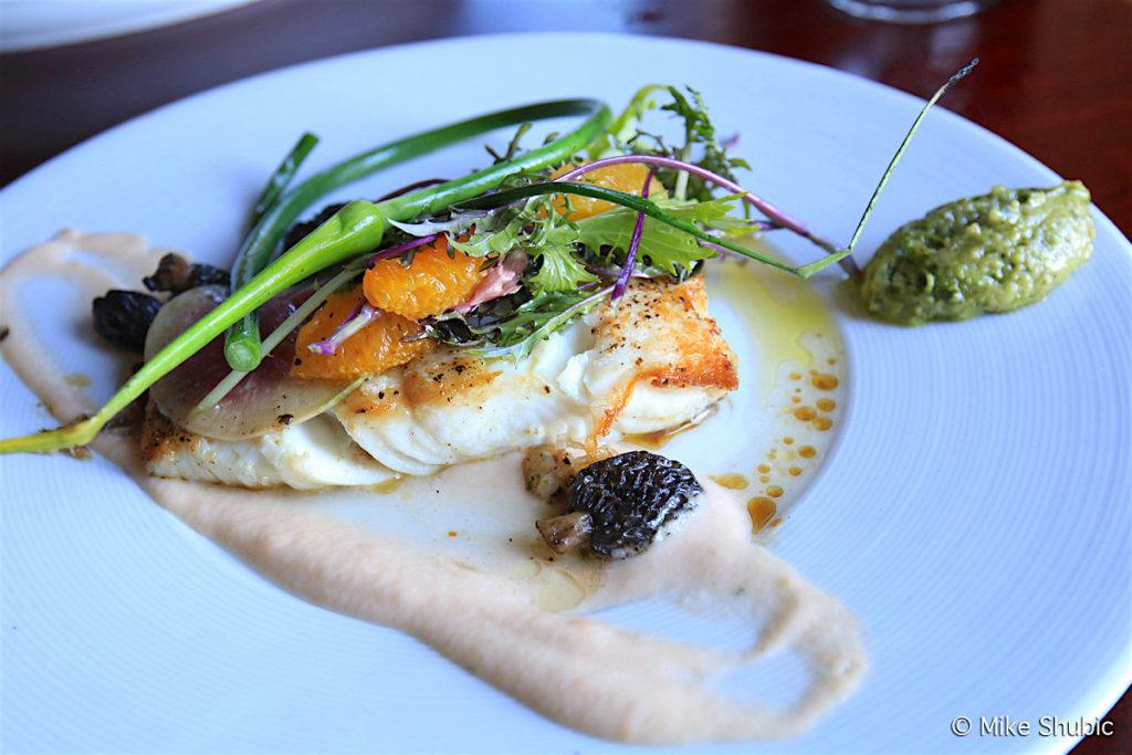 The Halibut entree at the Mansion Restaurant by MikesRoadTrip.com