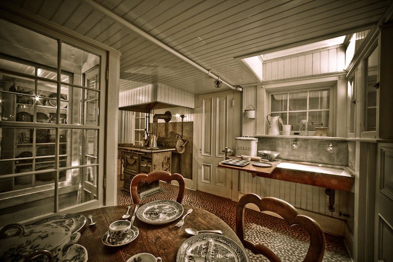 Kitchen of Winchester Mystery House - Photo by: ©David Swann