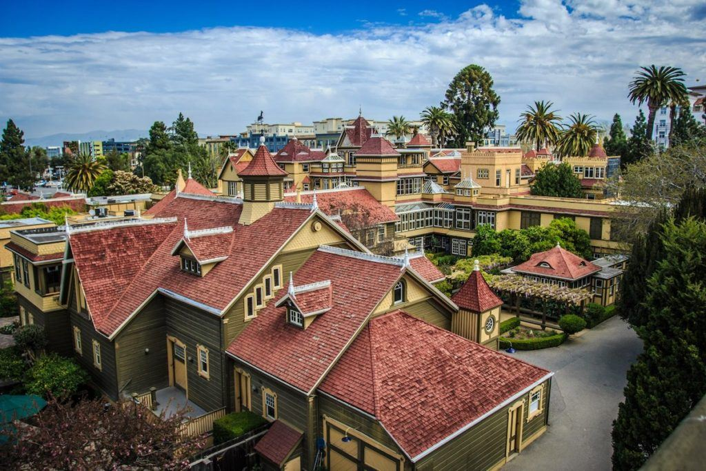 view-from-water-tower of the Winchester Mystery House