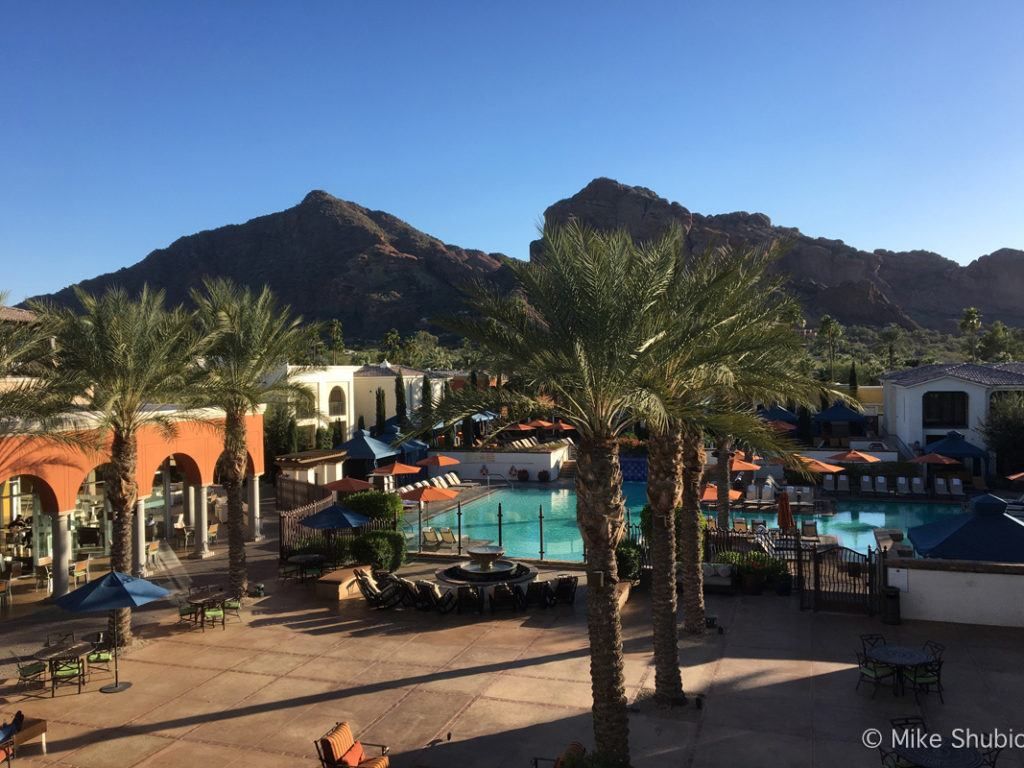 View of Camelback Mountain from Montelucia Resort by MikesRoadTrip.com