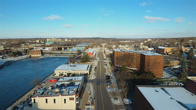 Janesville downtown aerial by MikesRoadTrip.com