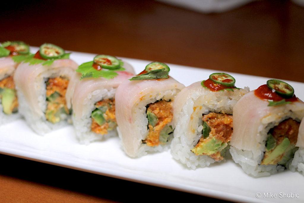 Sushi roll at Zen Sushi in Beloit WI by Mike Shubic of MikesRoadTrip.com