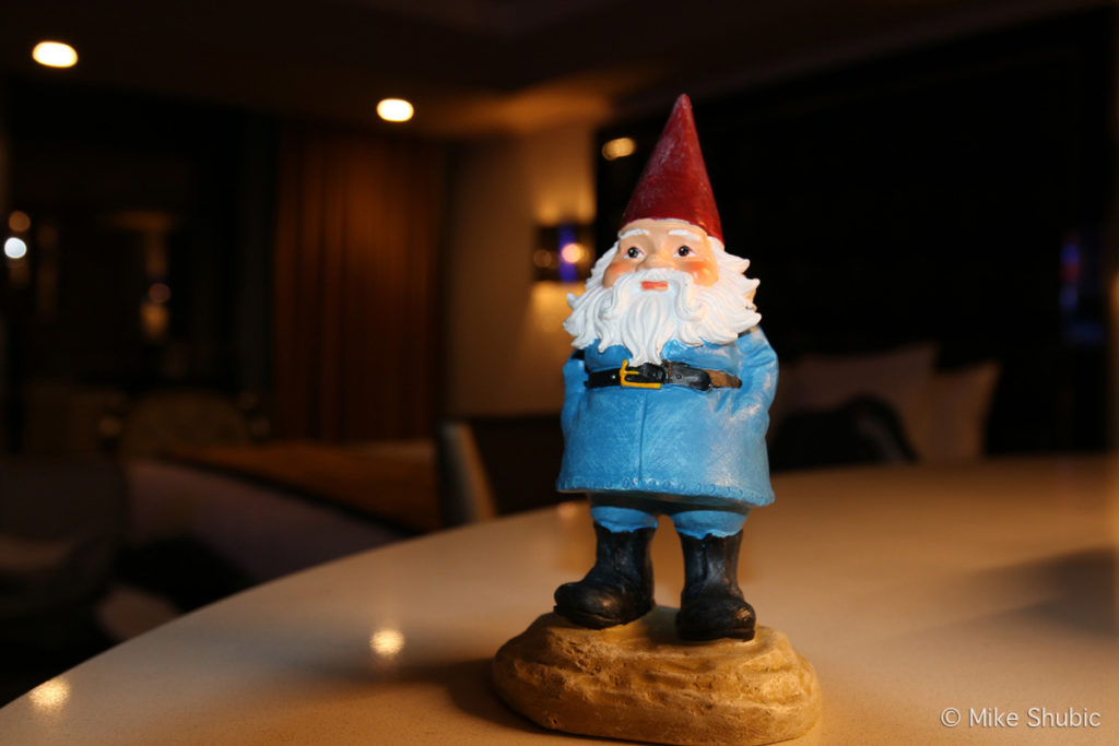Travelocity Roaming Gnome at the WestGate Las Vegas Resort by MikesRoadTrip.com