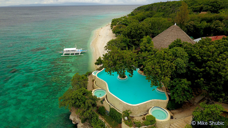 Aerial photo of Bluewater Sumilon Island resort by MikesRoadTrip.com