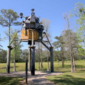 Lunar Lander roadside attraction in Westonia, Mississippi