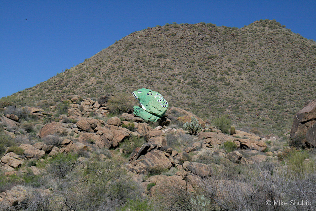 Giant frog boulder in Arizona - Photo by Mike Shubic of MikesRoadTrip.com
