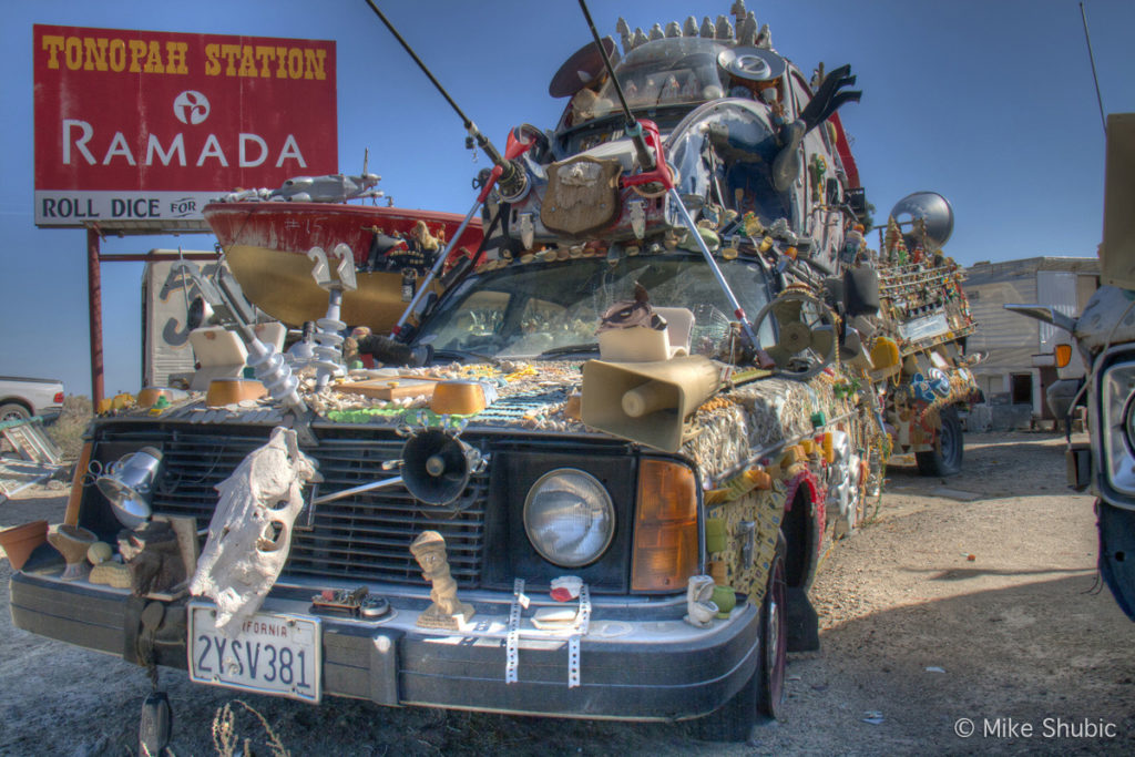 WHIMSICAL CAR in Tonopah by Mike Shubic of MikesRoadTrip.com