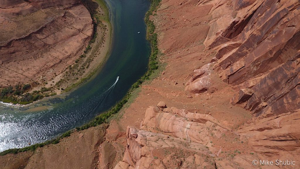 Horseshoe Bend looking straight down by Mike Shubic of MikesRoadTrip.com