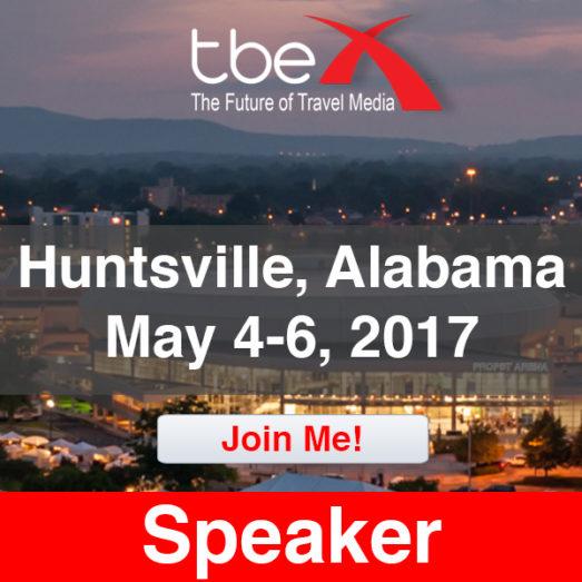 TBEX Huntsville speaker badge