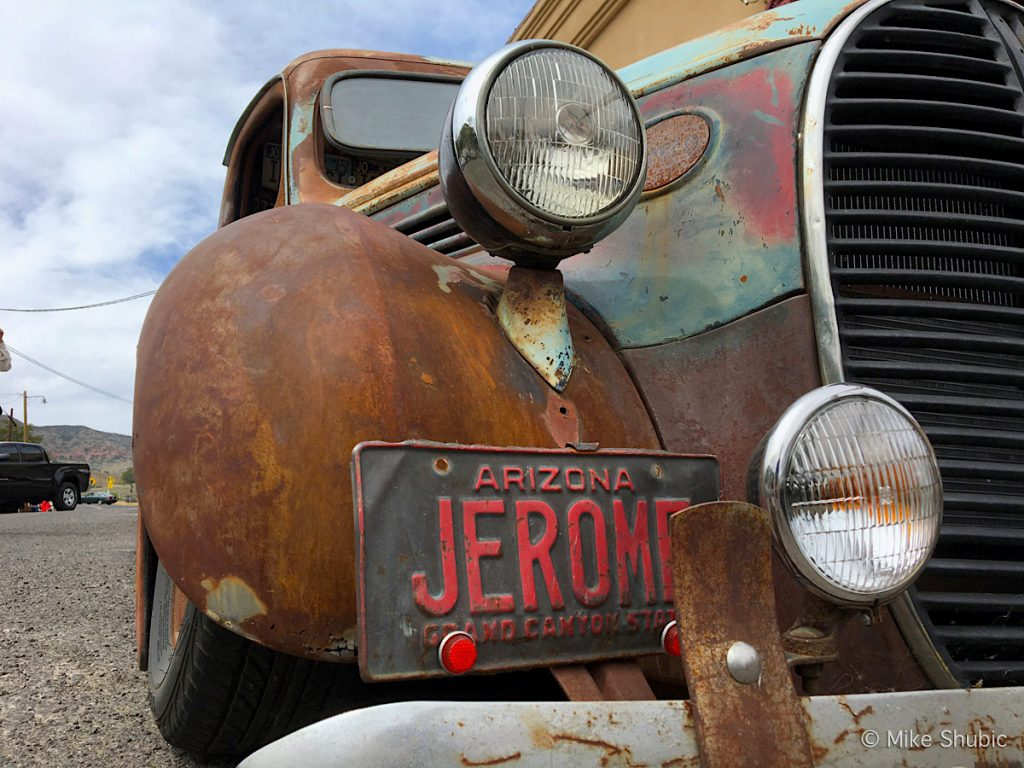 Old car in Jerome on Northern Arizona Road trip by MikesRoadTrip.com