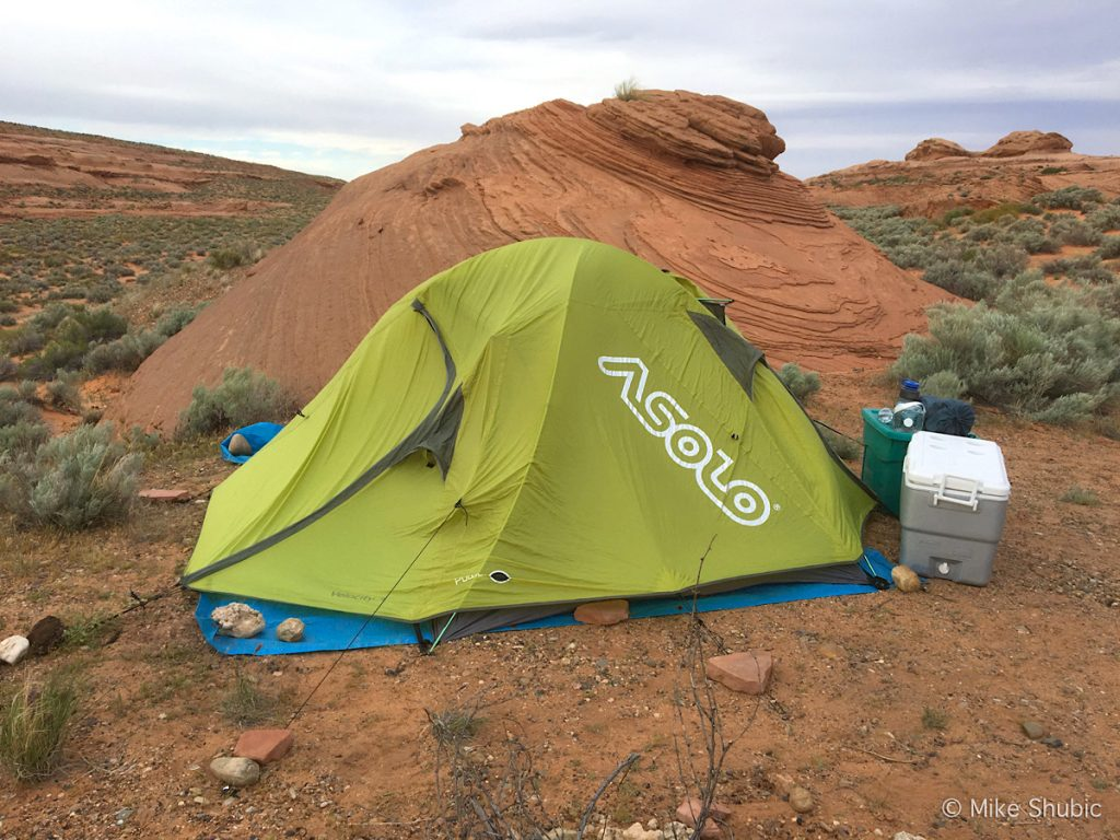 Asolo tent in Page Arizona by MikesRoadTrip.com