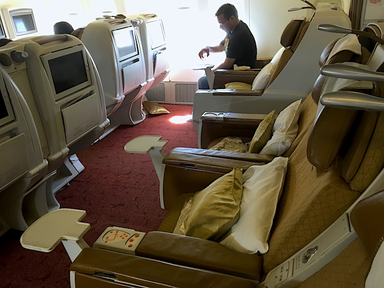 Air India Business Class seats on Boeing 777 from SFO to Dehli