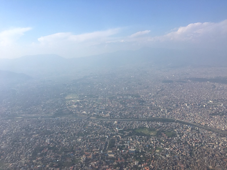 Flying over Kathmandu by MikesRoadTrip.com