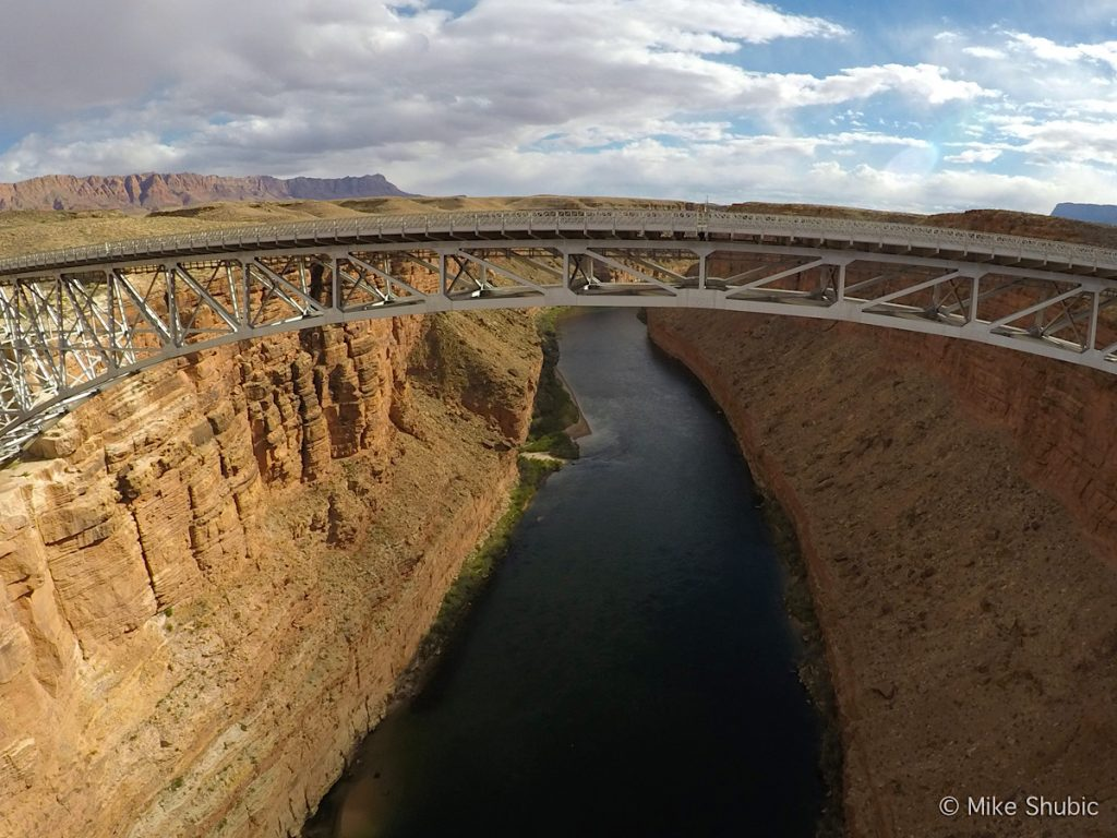 Navajo bridge in Northern Arizona by MikesRoadTrip.com