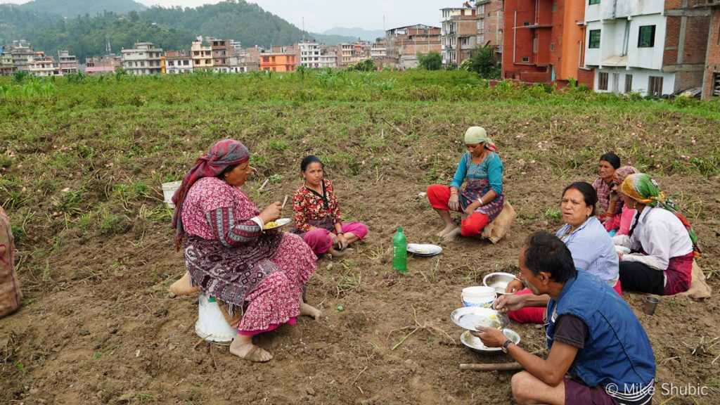 Panauti farm workers - Photo by Mike Shubic of MikesRoadTrip.com