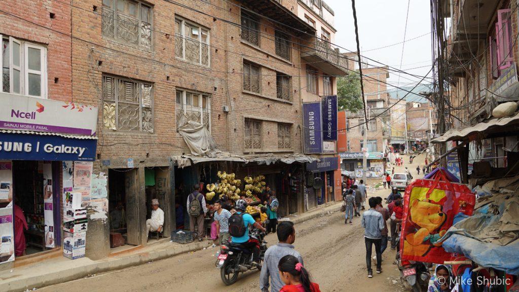 Busy streets of Panauti Nepal - photo by MikesroadTrip.com