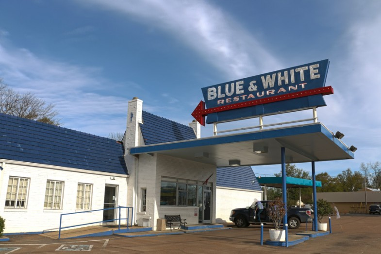 Blue and White restaurant in Tunica on Blues Trail road trip by Mike of MikesRoadTrip.com