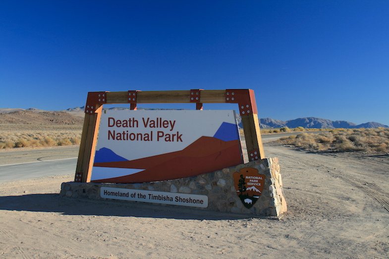 Death Valley National Park sign by MikesRoadtrip.com
