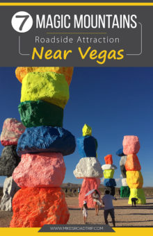 Seven Magic Mountains roadside attraction by MikesRoadTrip.com