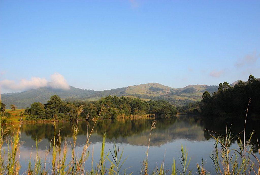 Lake at Mlilwane Wildlife Sanctuary in Swaziland, Africa
