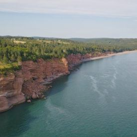 Crossing the Bay of Fundy to New Brunswick