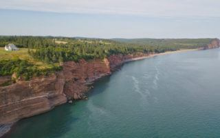 Bay of Fundy cliff - aerial shot by MikesRoadTrip.com