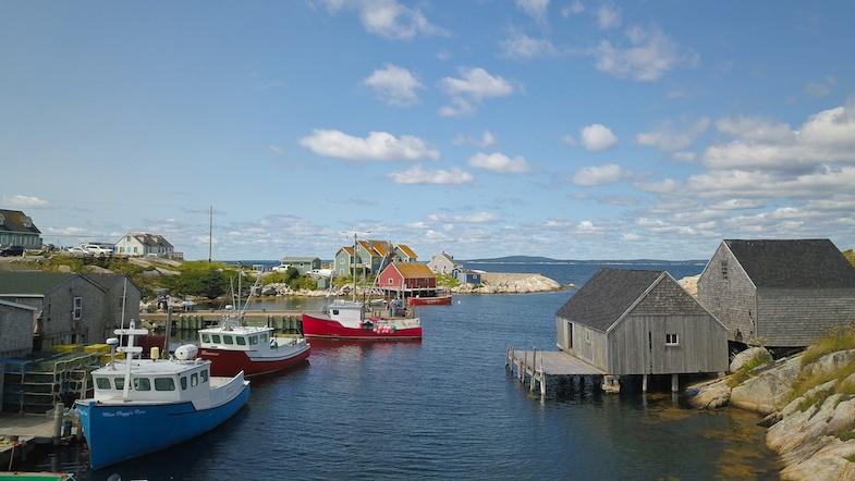 Peggy's Cove harbor by MikesRoadTrip.com