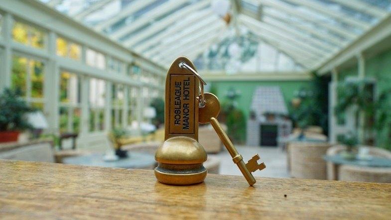 Rosleague Manor Hotel key by Mike Shubic of MikesRoadTrip.com