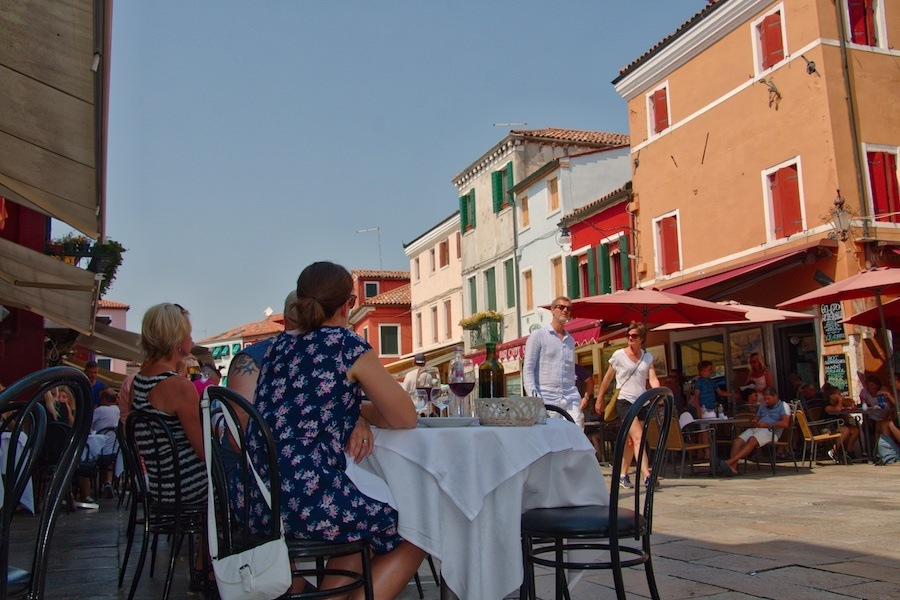 dining out in Burano Italy by MikesRoadTrip.com