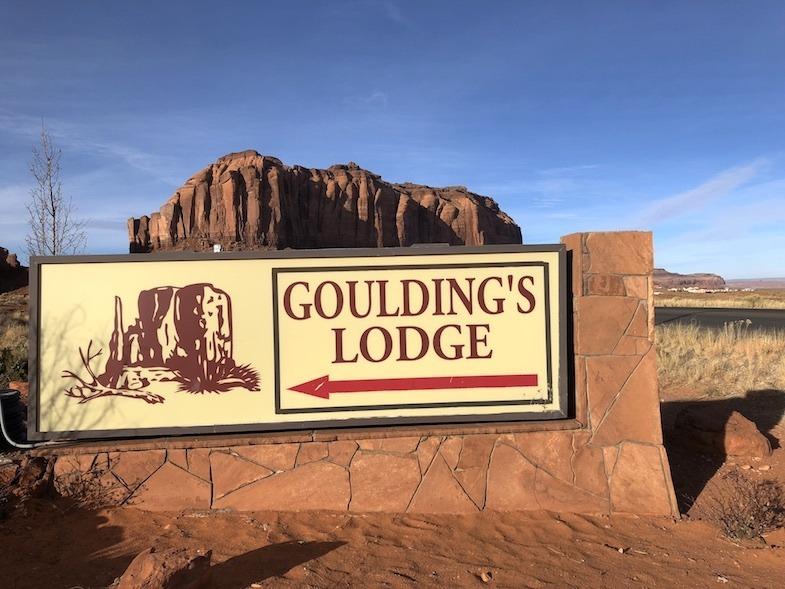 Goulding's sign by MikesRoadTrip.com