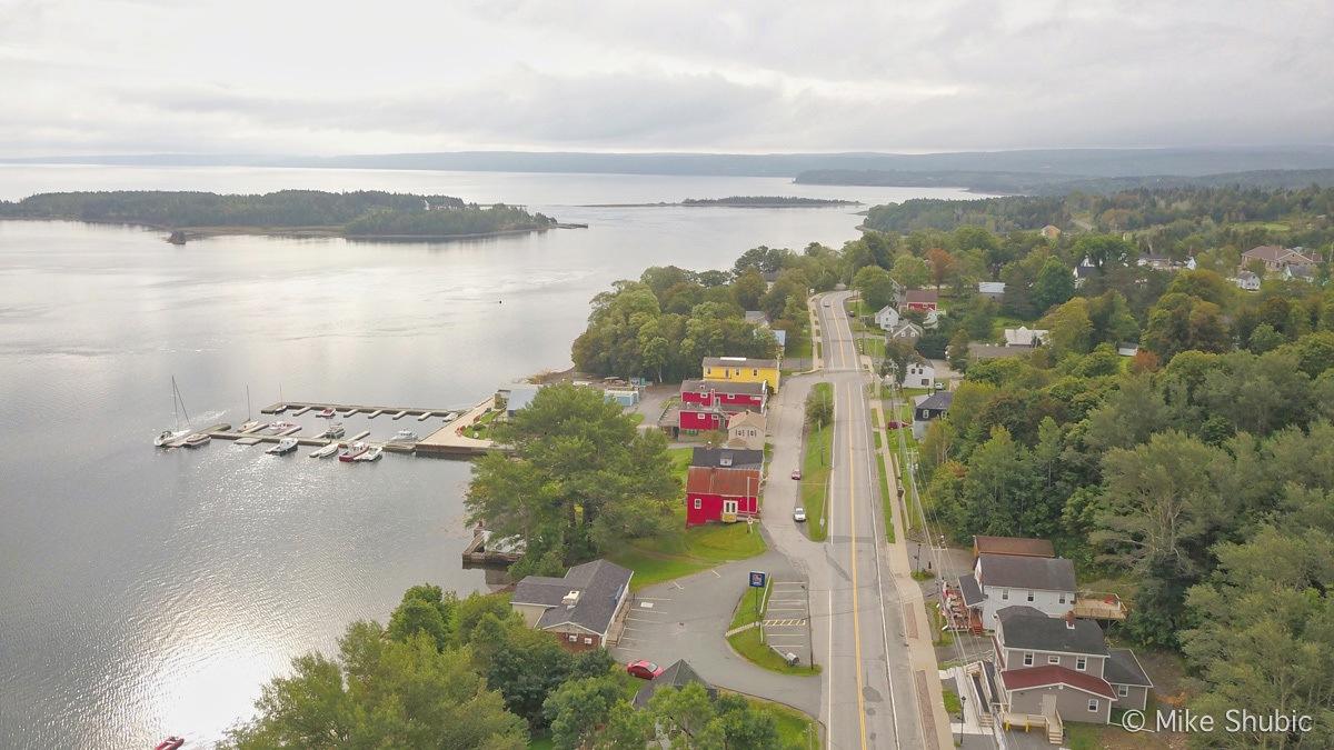 Guysborough, Nova Scotia road trip aerial photo by MikesRoadTrip.com