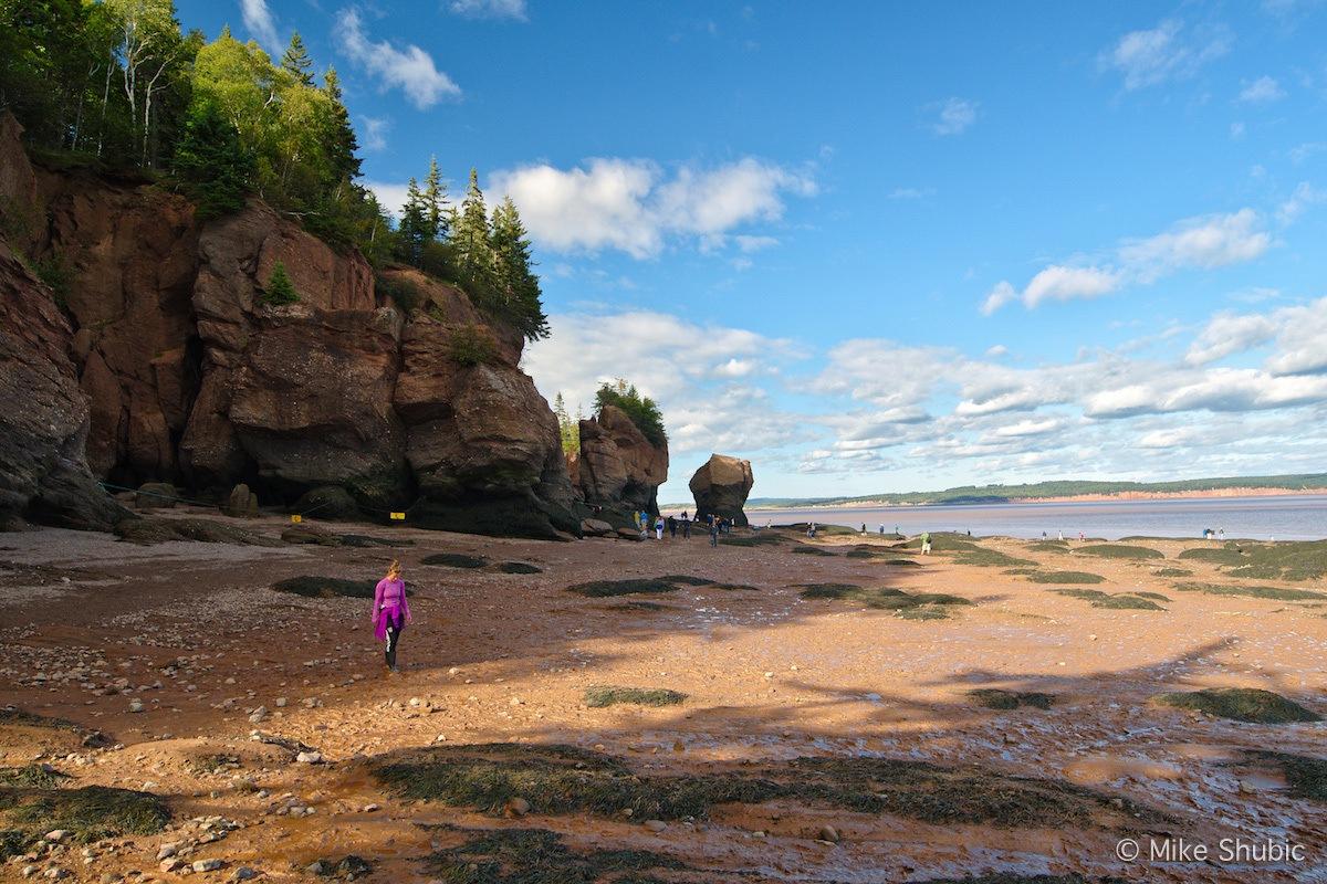 Hopewell Rocks in New Brunswick road trip by MikesRoadTrip.com