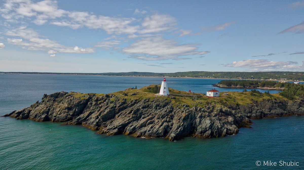 Swallowtail Lighthouse station on Grand Manan Island in New Brunswick Canada by MikesRoadTrip.com