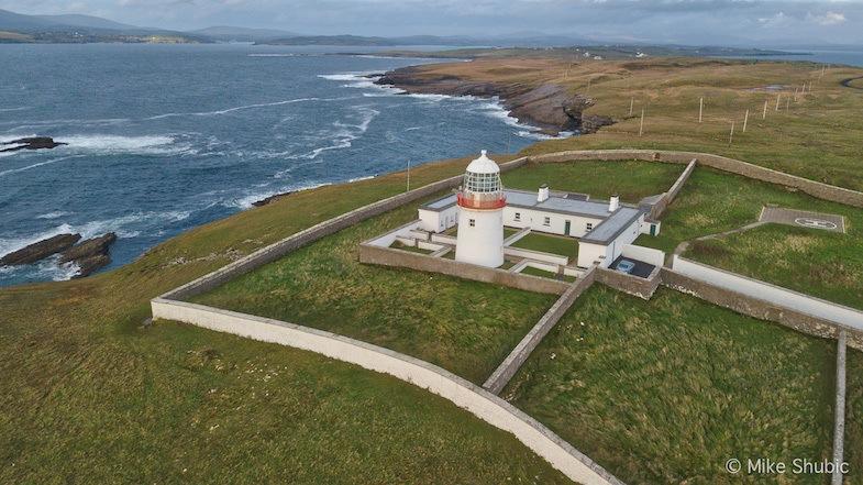 St. John's lighthouse aeril by MikesRoadTrip.com