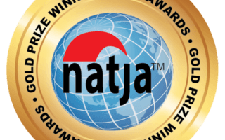 2017 NATJA Award Seal - Gold for best travel video - awarded to Mike Shubic of MikesRoadTrip.com