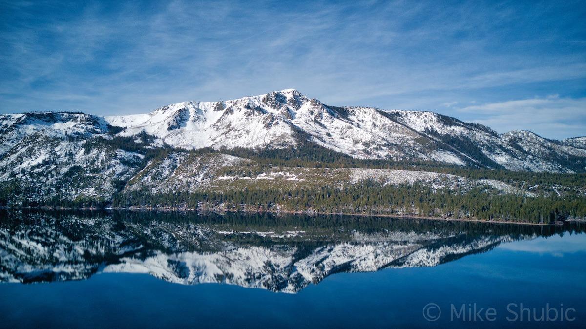 Fallen Leaf Lake mountain reflection by MikesRoadTrip.com