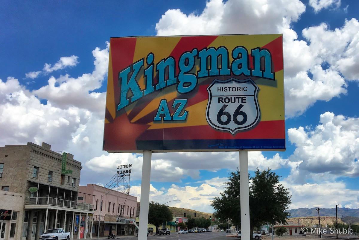 Kingman AZ Route 66 sign