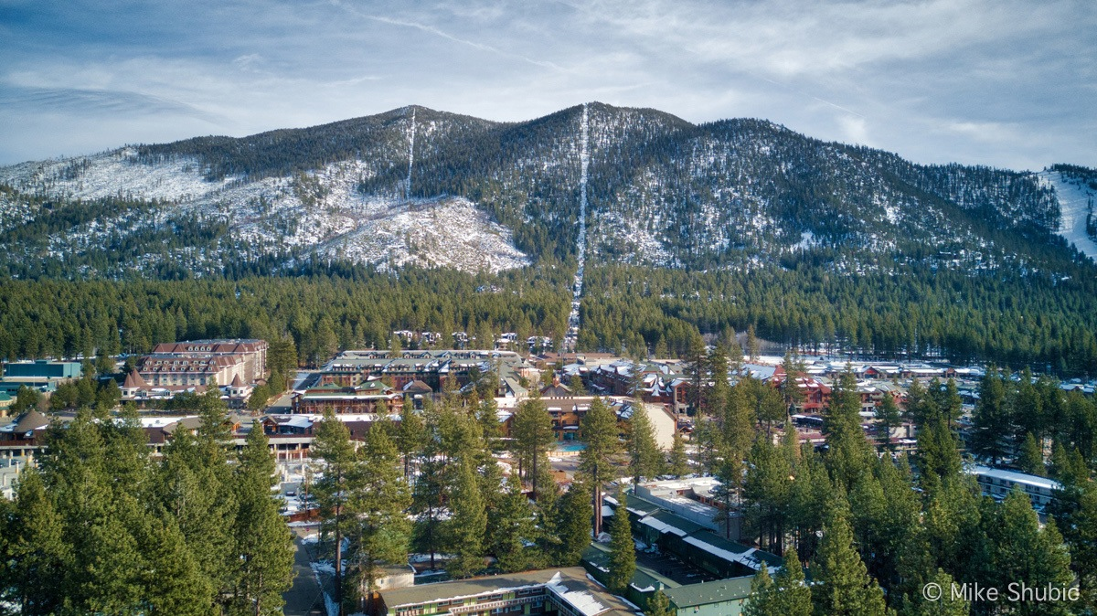 South Lake Tahoe downtown aerial by MikesRoadTrip.com